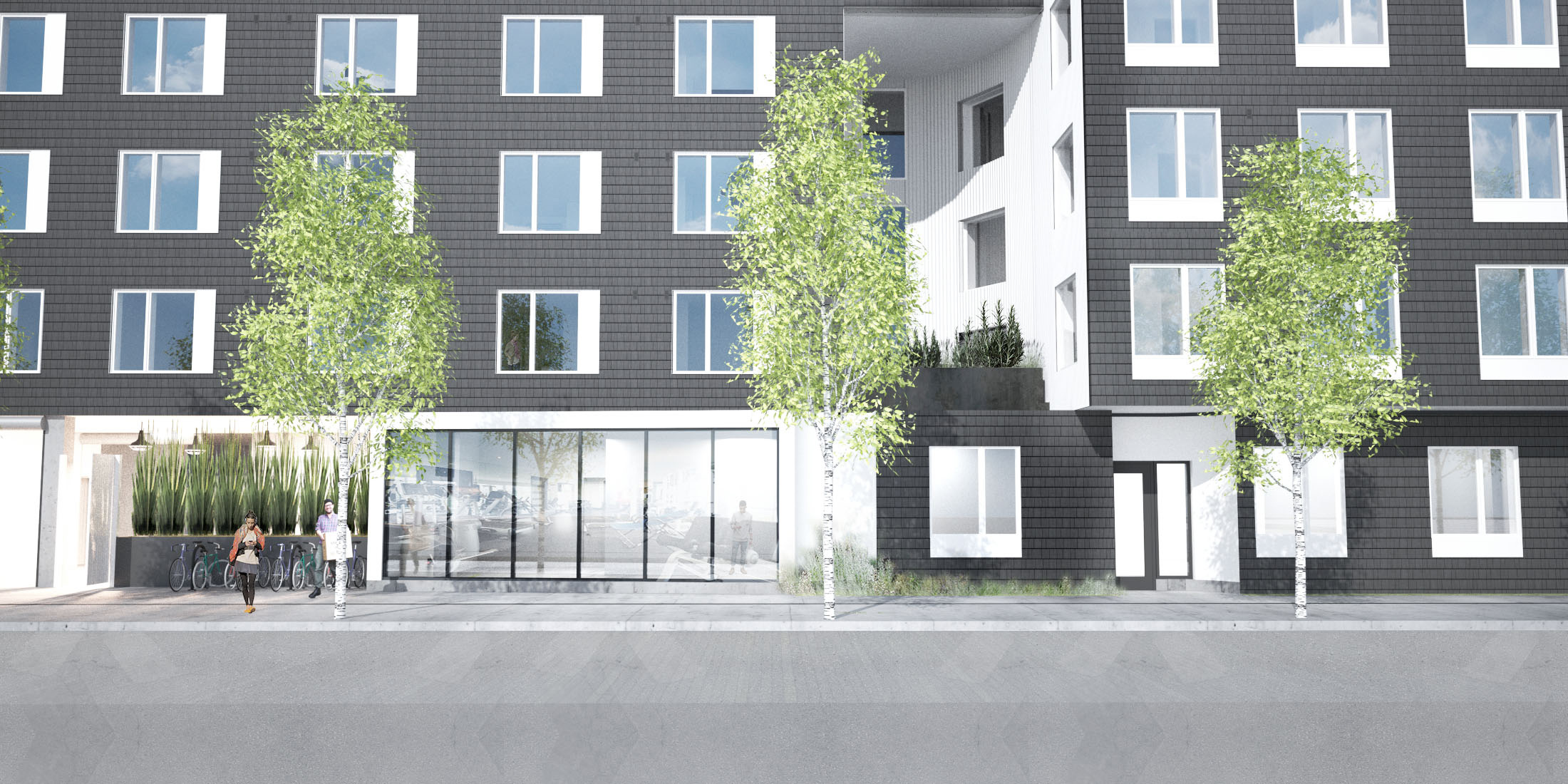 R&H: Nomad Apartments Multifamily Housing Side Rendering