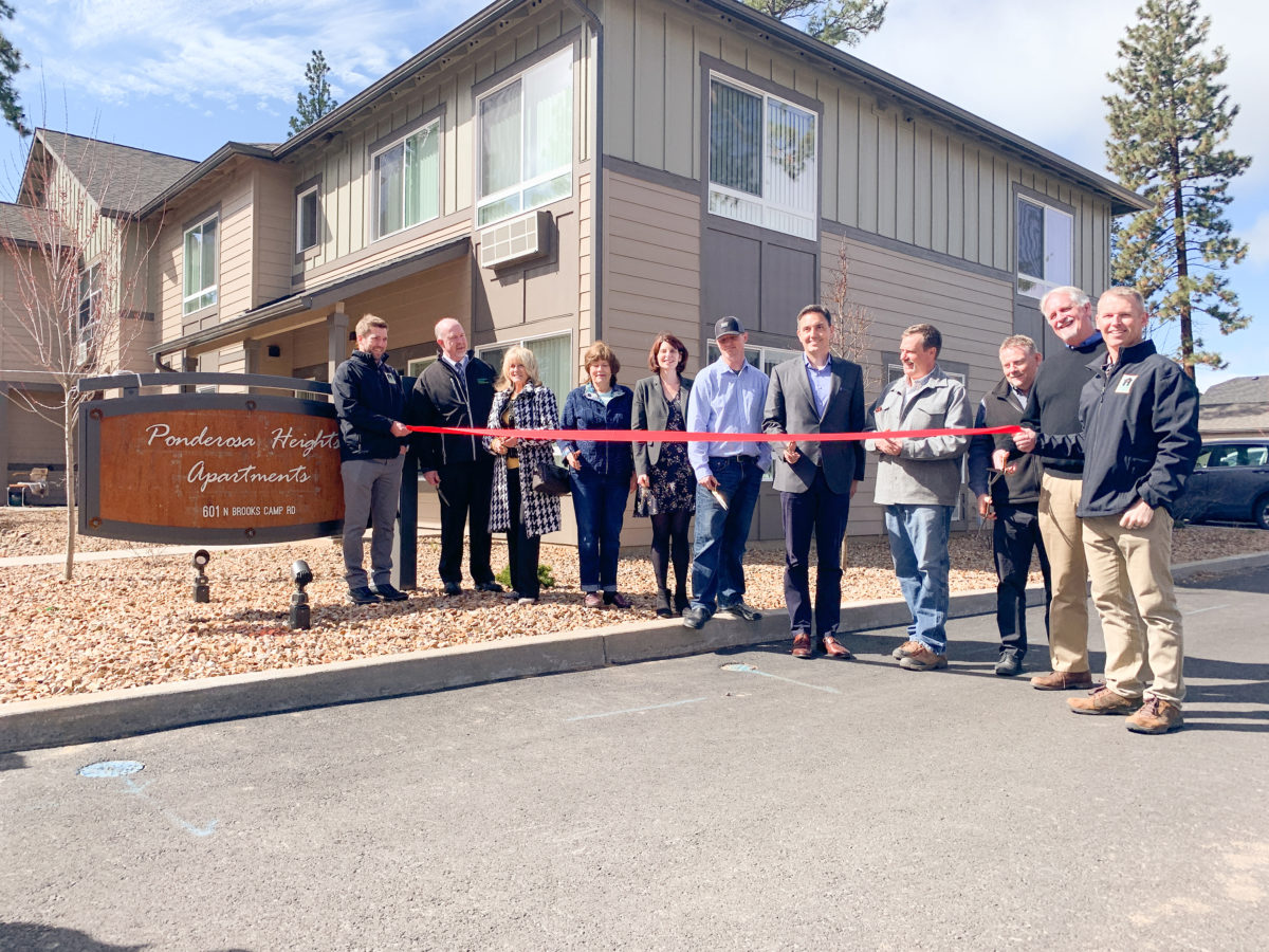 Celebrating open house for Ponderosa Heights apartments in Sisters, Oregon