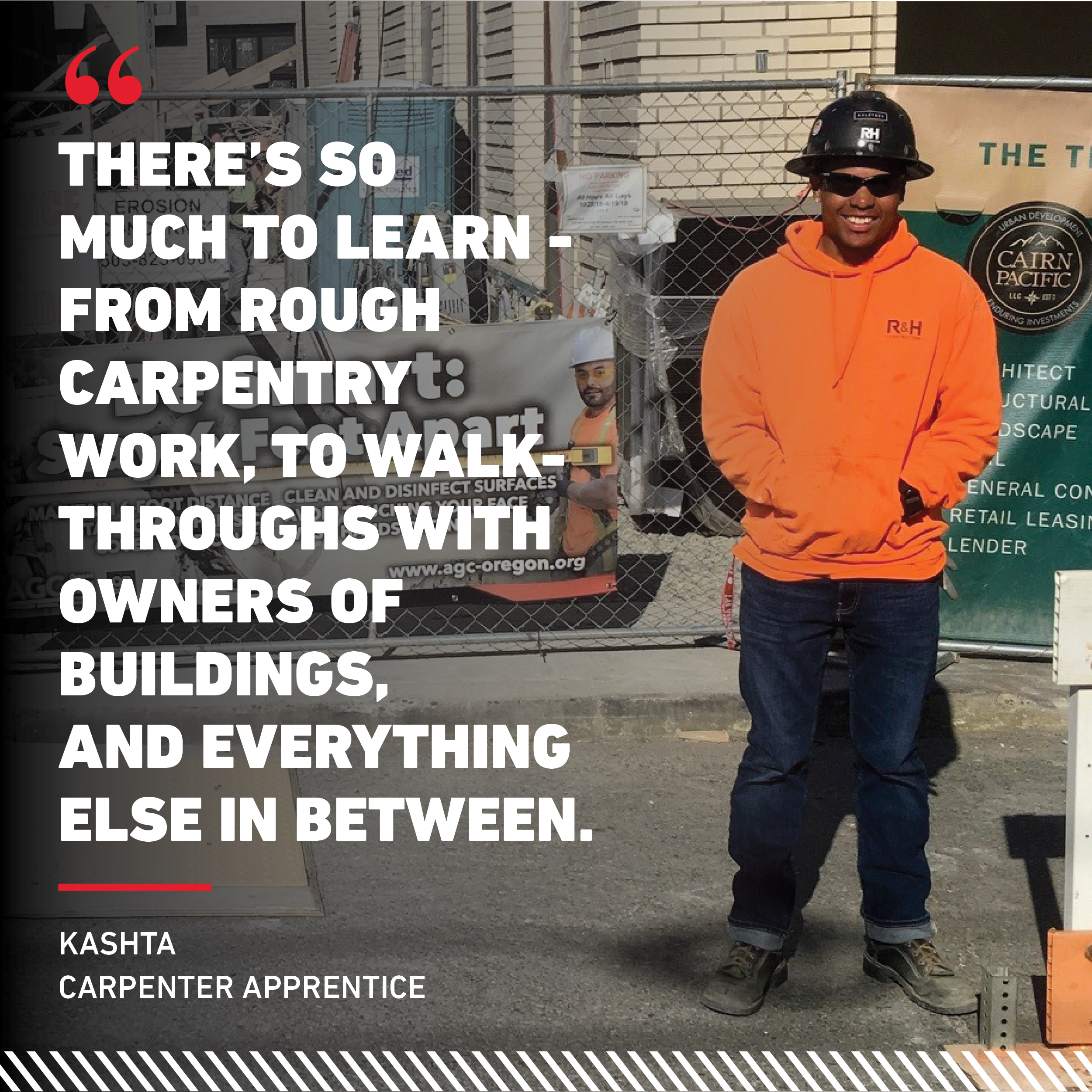 R&H Construction Kashta Andrade Booker Team Carpenter Helper Careers in Construction Month